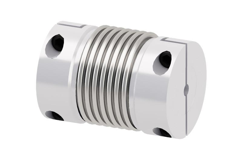 Metal bellows couplings sealing in valves